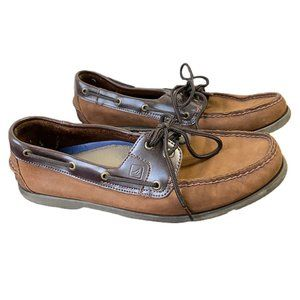 Sperry Topsider Brown Nubuck Leather Boat Shoes